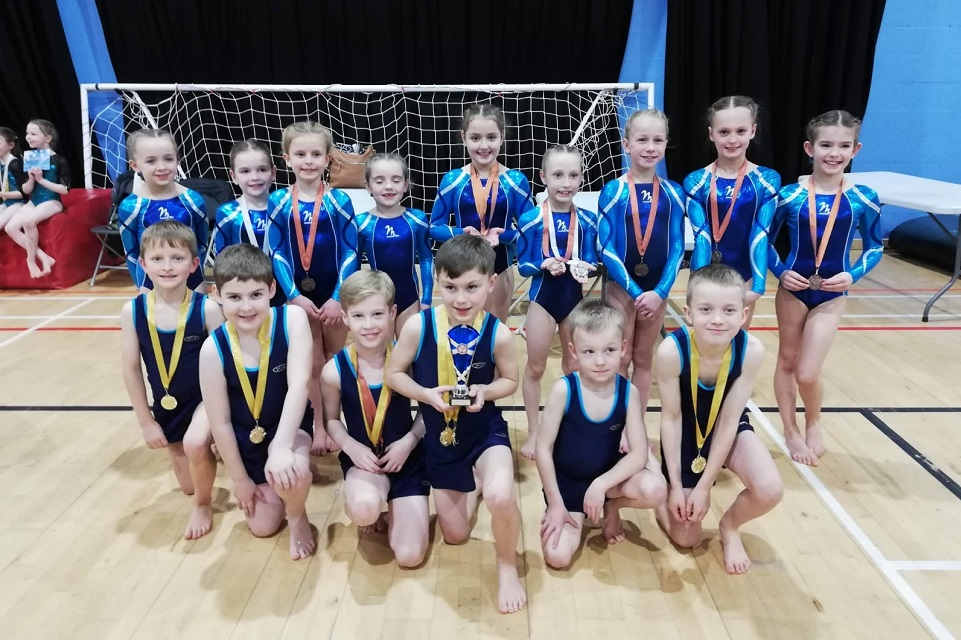 ETKO gymnasts with their medals